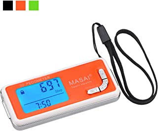 Pedometer for Walking-3D Trisport Walking Pedometer-Portable Step Counter for Walking-Non-Bluetooth Pedometers with Lanyard & 7 Days Memory for Distance/Calorie Counter with Water-Resistant/Backlight
