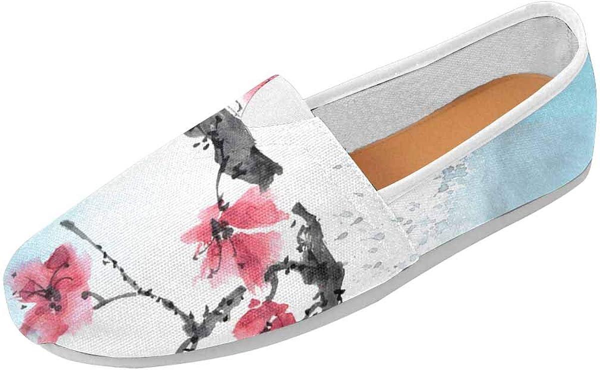 InterestPrint Cherry Blossom, Tree Branch Women's Lightweight Comfort Slip On Fashion