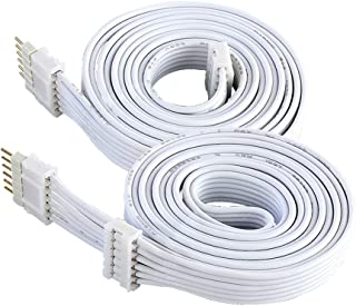 Extension Cable for Philips Hue LightStrip Plus (3 ft/1 m, 2 Pack, White)
