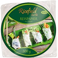 Ricefield Papel De Arroz, 22 cm, Pack de 300 g