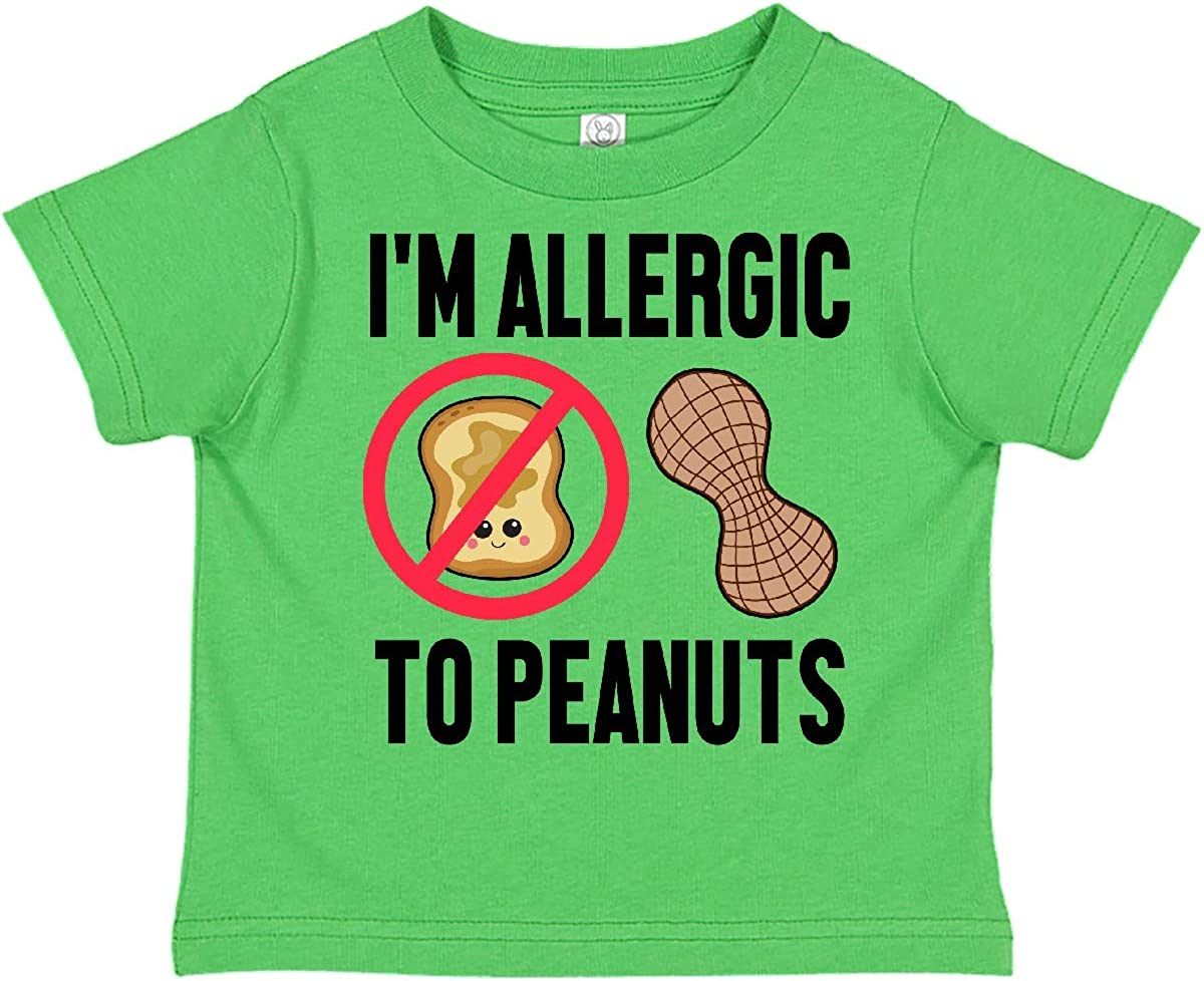 inktastic Im Allergic to Peanuts Food Allergy Awareness Toddler T-Shirt