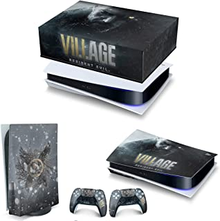 Capa Anti Poeira e Skin PS5 Horizontal - Resident Evil Village