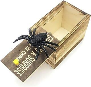 YDZM Bromas de Madera Scare Box, Spider Mouse Centipede o Scorpion Prank Scare Box Surprise Box Funny Practical Joke Boxes para niños Adultos (Araña)