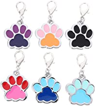 Hemobllo 6pcs Zinc Alloy Pet ID Tag DIY Dog Cat Identity Tag Paw Shape Name Tags Pet Charms Unpainted Engraving Hanging Ta...