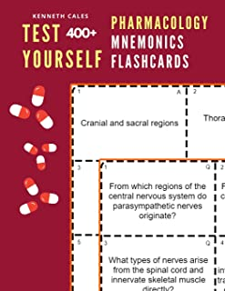 Test Yourself 400+ Pharmacology Mnemonics Flashcards: Practice pharmacology flash cards for exam preparation