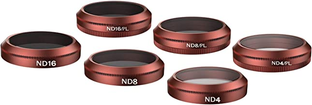 Skyreat 6-Pack (ND4, ND8, ND16, ND4-PL, ND8-PL, ND16-PL) Filter Set Compatible for Mavic 2 Zoom Filters