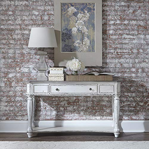 Liberty Furniture Industries Magnolia Manor Sofa Table, W52 x D18 x H30, White