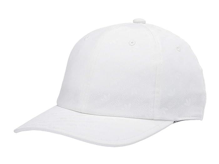 adidas Originals  Originals Reflective Monogram Unstructured Cap (White/Tonal White Reflective) Caps
