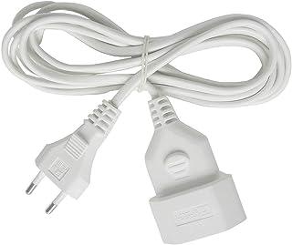 Brennenstuhl Cable alargador de corriente de enchufe plano tipo euro (enchufe europeo, para interiores, cable plano de 3m...