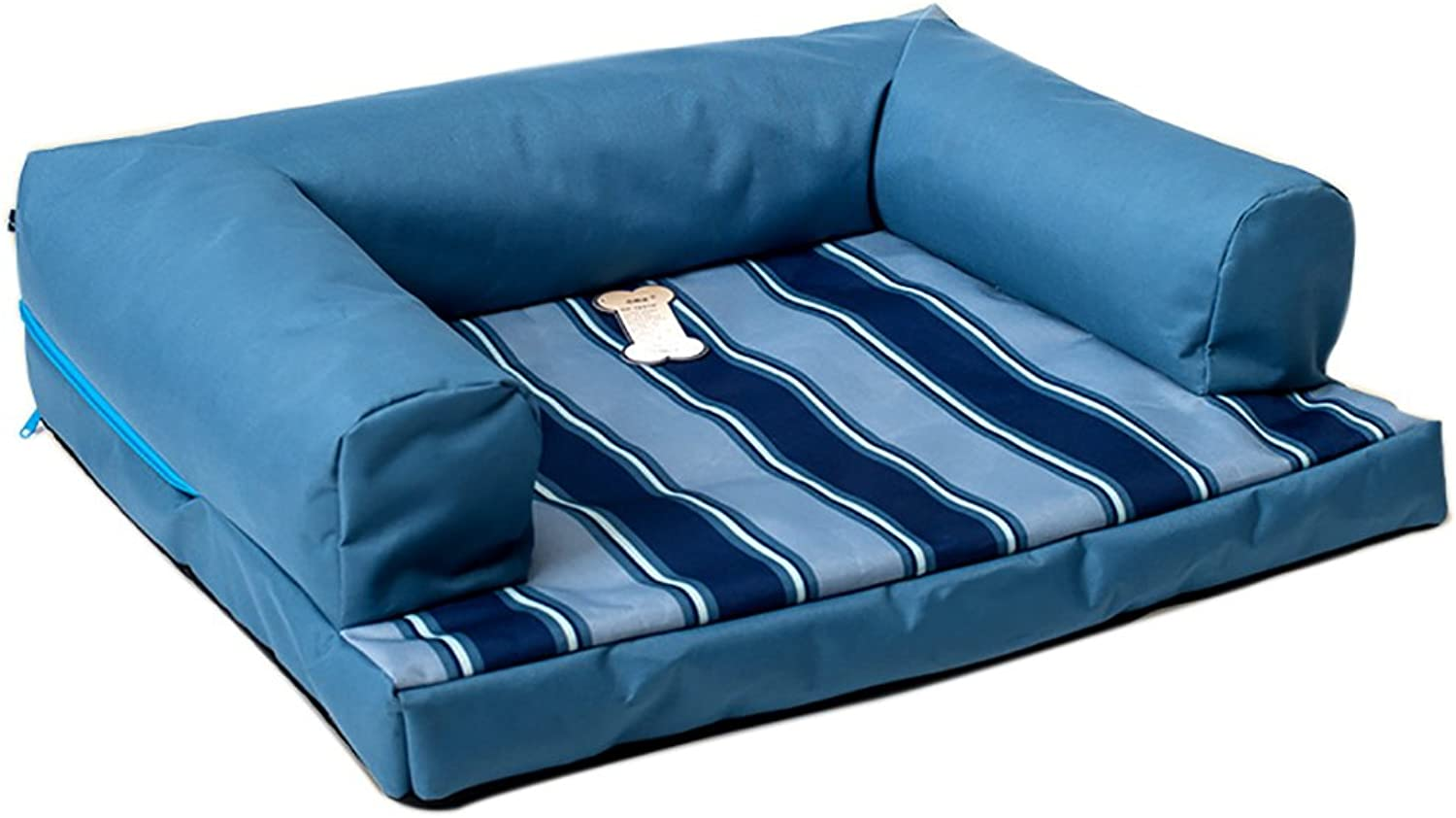 GJ@ + Pet Kennel Cat Nest Removable And Washable Four Seasons ApplySmall Dog Bed Mat Dog Room,bluee,68  53cm