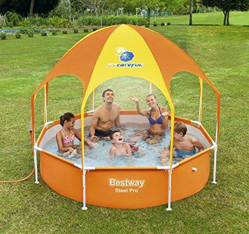 Bestway-Frame-Pool-with-Sun-Shade-Sprinkler-Splash-in