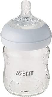 Philips Avent Natural Glass Baby Bottle, 4oz, 1pk, SCF701/17