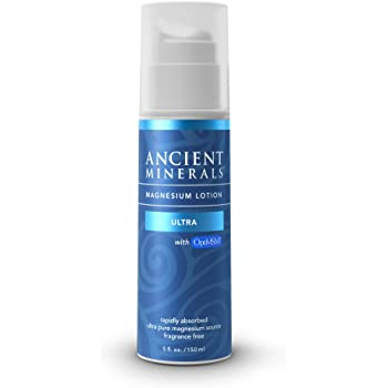 Ancient Minerals Magnesium Lotion ULTRA with MSM - Pure Genuine Zechstein Magnesium Lotion Supplement with MSM for Topical Application (5oz)