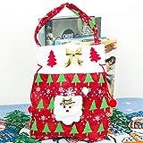 巨大な休日ラッピングエクストラジャンボ用リボン、贈り物、タグ付きクリニーククリスマスギフトバッグ丈夫な生地の再利用可能なメイド,A