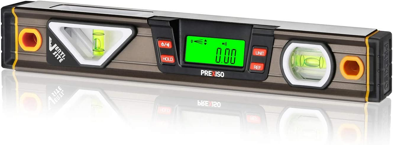 PREXISO Digital Level 11.5'' Angle LCD Slope with 360 Max 47% Max 74% OFF OFF Display