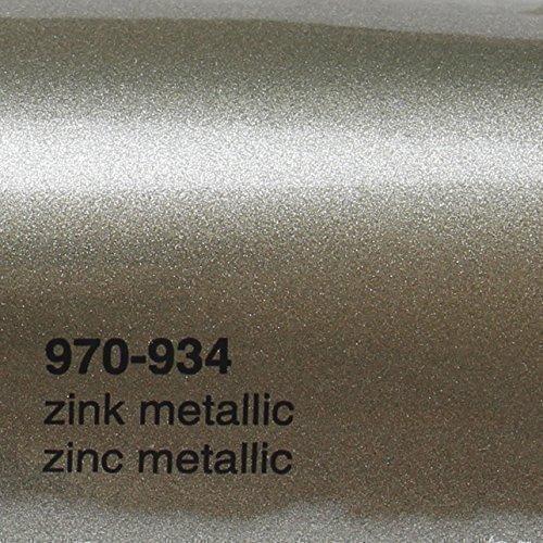 Oracal 970RA 934 Zink Metallic glans gegoten professionele autofolie 152 cm breed BEL gratis met luchtkanalen