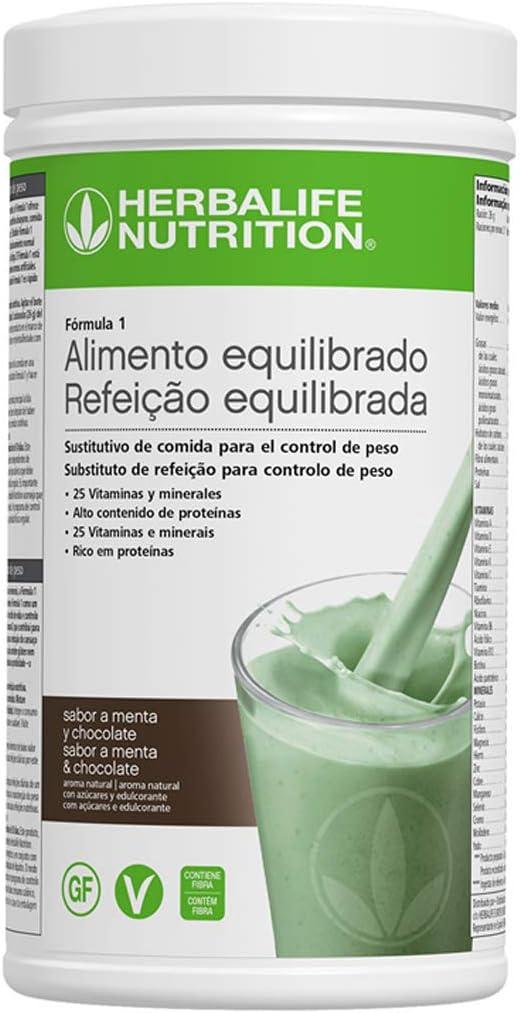 Batido Fórmula 1 550g - (Menta y Chocolate) | Herbalife