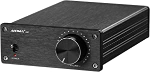 AIYIMA A07 TPA3255 Power Amplifier 300Wx2 HiFi Class D Stereo Digital Audio Amp 2.0 Sound Amplifier for Speaker Home Theater System (A07)
