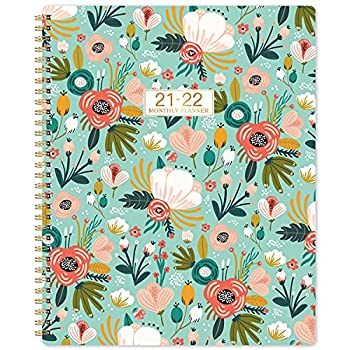 2021-2022 Monthly Planner/Calendar - 18-Month Planner with Tabs & Double Side Pocket & Label 8.5 x 11  Jul 2021 - Dec.2022 Floral Calendar Planners Contacts and Passwords Twin-Wire Binding