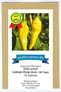 Lemon Drop - Chili scharf - Peperoni - 10 Samen