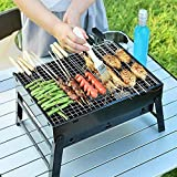 XXSSIER Foldable and Portable Outdoor Tandoori Barbeque Grills, Tanduri Chicken barbique griller, Toaster Charcoal BBQ Grill Oven for Home and Outdoor with 12 Skewers