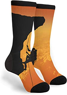 Extreme Sports Print Snowboarder Socks Mens Womens Casual Socks Custom Creative Crew Socks