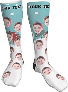 LQS72, Calcetines faciales personalizados Calcetines personalizados con foto impresa Calcetines divertidos de novedad Unisex