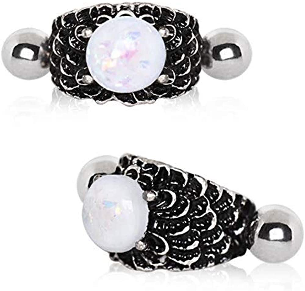 Covet Jewelry 316L Stainless Steel Dragon's Orb Cartilage Cuff Earring