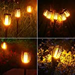 6-Pack Solar Torch Lights with Flickering Flames for Christmas Decorations Outdoors Garden Path Light Solar-powered Wireless Pathway Lights, Waterproof Landscape Lighting for Yard, Patio, Lawn, Porch Lit at Night