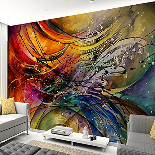 Papel tapiz mural personalizado 3D línea tridimensional curva arte abstracto mural sala de estar sofá TV decoración de fondo 3D 200x140cm
