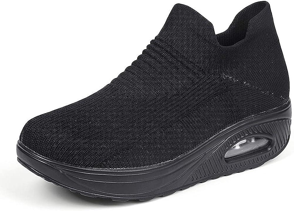 CSBYW Womens Wedges Rocker Shoes Li 70% OFF Outlet Cushion Nippon regular agency Walking Air Sneakers