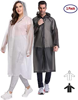 Multifunctional Rain Poncho,EVA Portable Raincoat with Hoods and Sleeves,No Chemical Smell,Reusable & Thicken and Perfect for Hiking,Disneyland,or Camping.(Multi-Size)