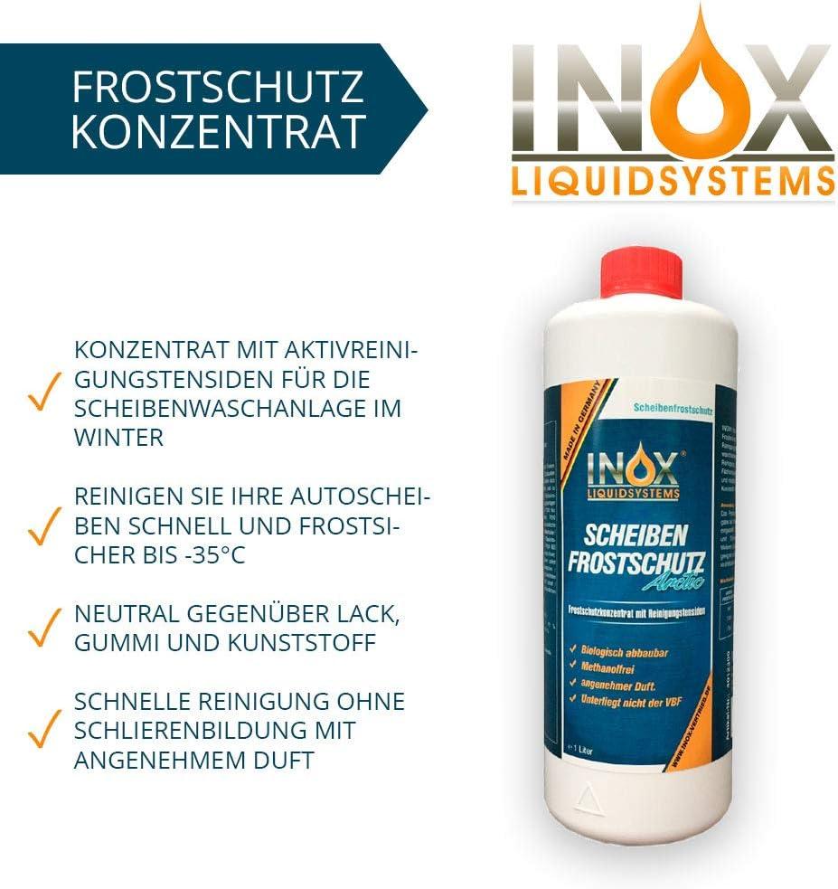 Inox Arctic Scheibenfrostschutz Konzentrat 2 X 1l Auto Frostschutzmittel Scheibenwaschanlage Für Scheibenwischwasser Bis 35 C Auto