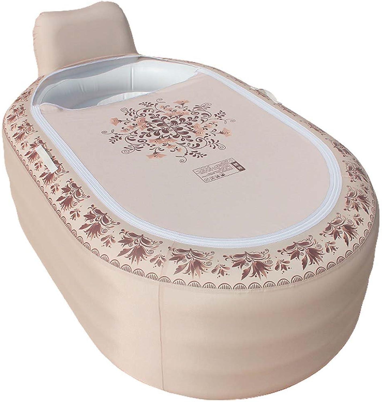 KTYX Home European Inflatable Bathtub Adult Folding Plastic Tub Tub Inflatable bathtub (color   B Section)