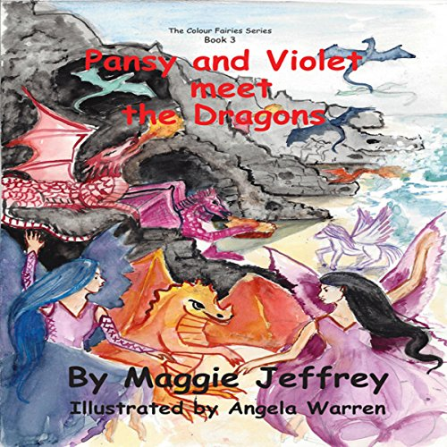 Pansy and Violet Meet the Dragons audiobook cover art