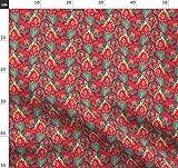 Tulpe, Muster, Indianisch, Rot, Verziert, Türkisch,