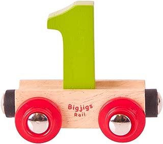Bigjigs Rail Rail Name Number 1 (Colors Vary)