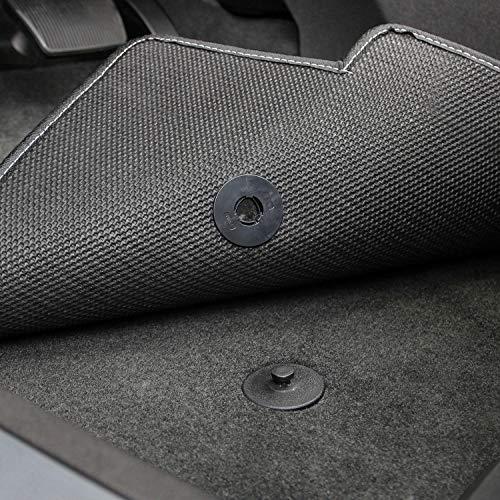 Lloyd Mats LogoMat Custom Floor Mats for Cadillac CTS-V Sedan 2016-2020 (Charcoal, 4 PC - Centered Logo)