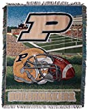 NORTHWEST NCAA Purdue Boilermakers Woven Tapestry Throw Blanket, 48' x 60', Home Field Advantage