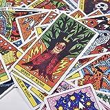Tarot del Fuego Cards 78   con Arte De Alta Energía Que Aparece con Colores Llamativos Y Motivos Ard...