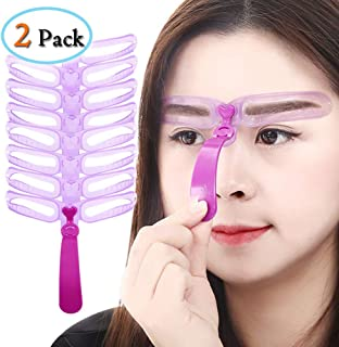 Hongma 8種類 眉毛テンプレート 8パターン 眉毛を気分で使い分け 眉用ステンシル 美容ツール 男女兼用 2点セット