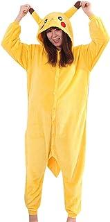 Pijama Pikachu Animale Disfraz Stitch Traje Adulto Mujer Invierno Cosplay Halloween y Navidad