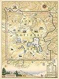 Xplorer Maps Yellowstone National Park Poster –