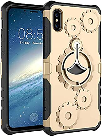 Anyos iPhone Xs Max Case, Sport Armband 360° Rotatable Ring Holder,with Armband