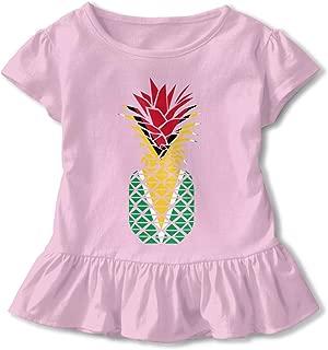 Clarissa Bertha USA Flag American Map Toddler Baby Girls Short Sleeve Ruffle T-Shirt