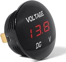 XCSOURCE 12V-24V DC Digital Display Voltmeter Car Motorcycle Red LED Waterproof Volt Meter Black BI181
