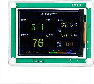 Rocomoco CO2 PM1.0 PM2.5 PM10 モニター 温度 湿度 室内 車内 2.8インチスクリーン 二酸化炭素 測定器具 環境モニター (CO2+PM2.5)