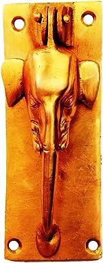 Purpledip Brass Cabinet/Drawer Pull Handle/Knob/Door Knocker 'Wild Elephant' (11138)