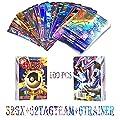 JIM - 100 Piezas Pokemon Cartas,Tarjetas de Pokemon,Pokemon Trading Cards,Cartas Pokémon Game Battle Card,32gx+62tagteam+6trainer de JIM