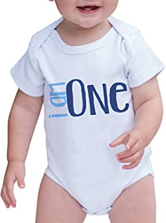 7 ate 9 Apparel Unisex Baby's Novelty I am One First Birthday Onepiece Outfit